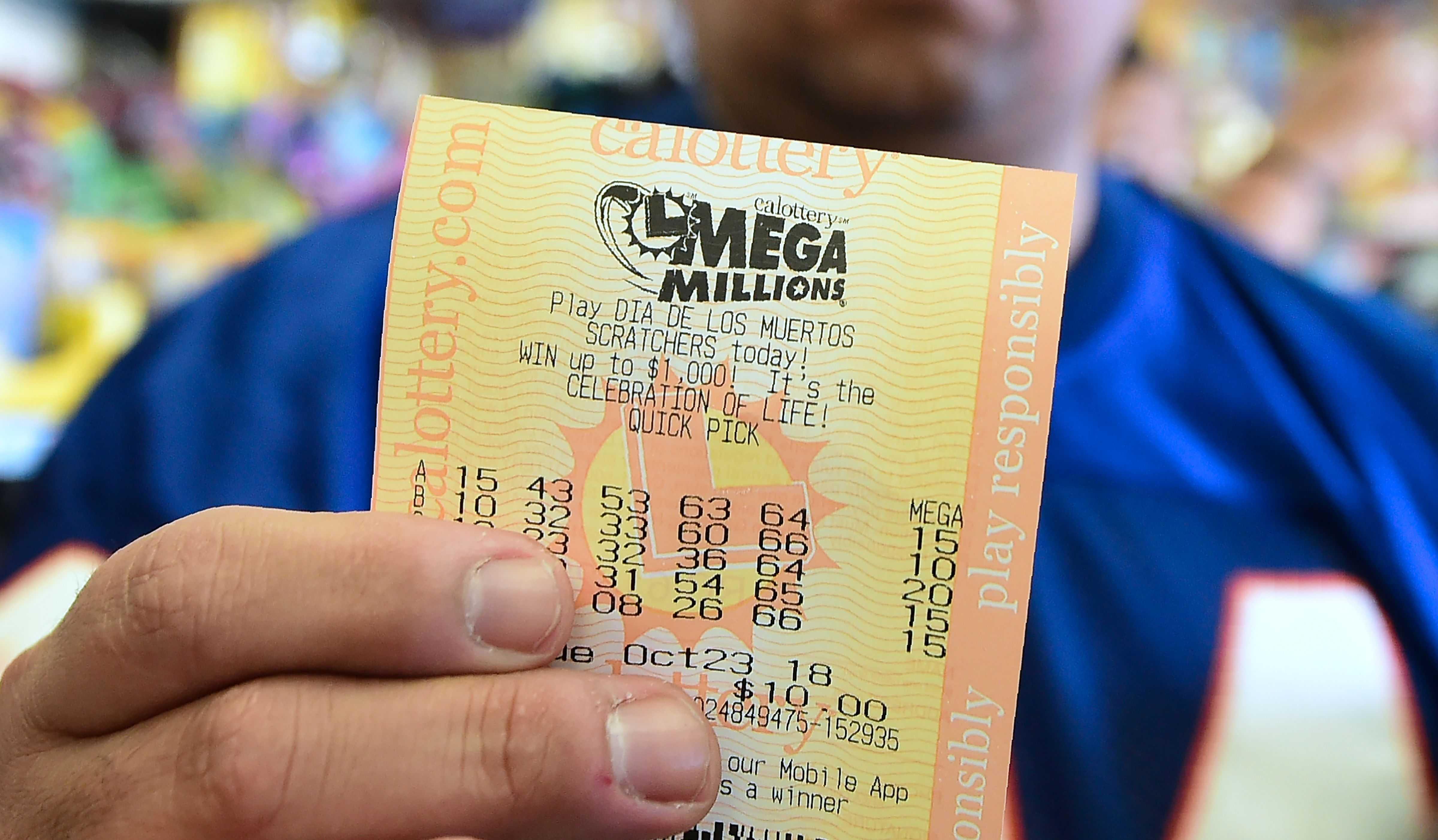 Mega milhões de loteria americana