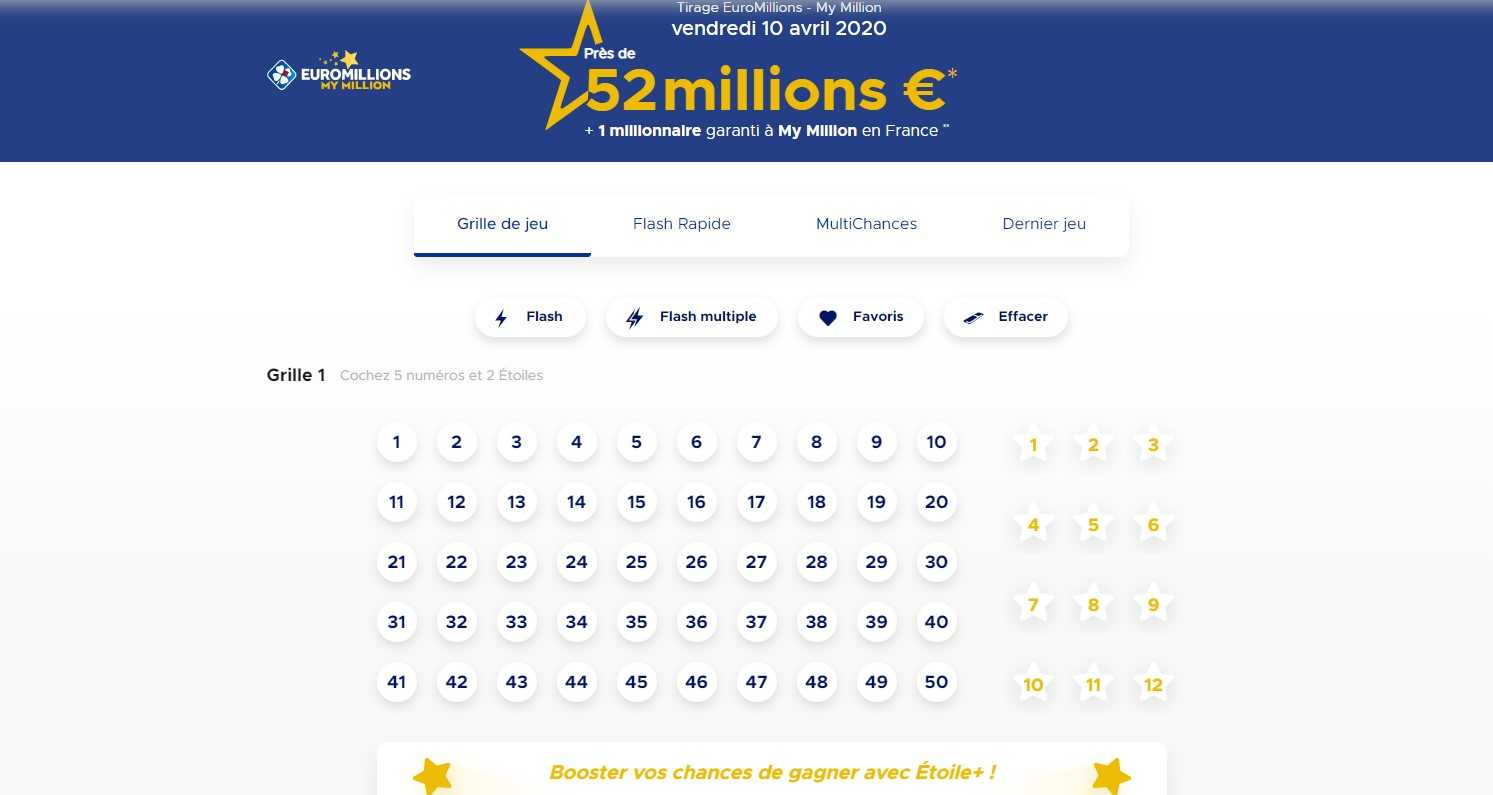 Euromillions - official results and euromillion earnings report !